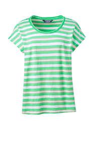 Women's Plus Size Dolman Sleeve Stripe Scoop Neck T-Shirt