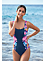 Women's Square Neck Floral Print Perfect Swimsuit