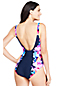 Women's Square Neck Floral Print Perfect Swimsuit