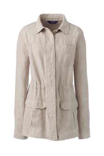 Lässige Leinen-Jacke für Damen in Plusgröße