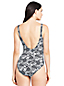 Women's Square Neck Tropical Print Perfect Swimsuit
