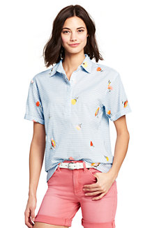 Women's Embroidered Short Sleeve Shirt