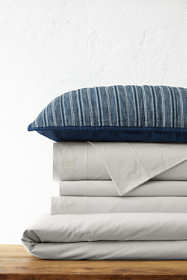 Cotton Knit Solid Duvet Cover