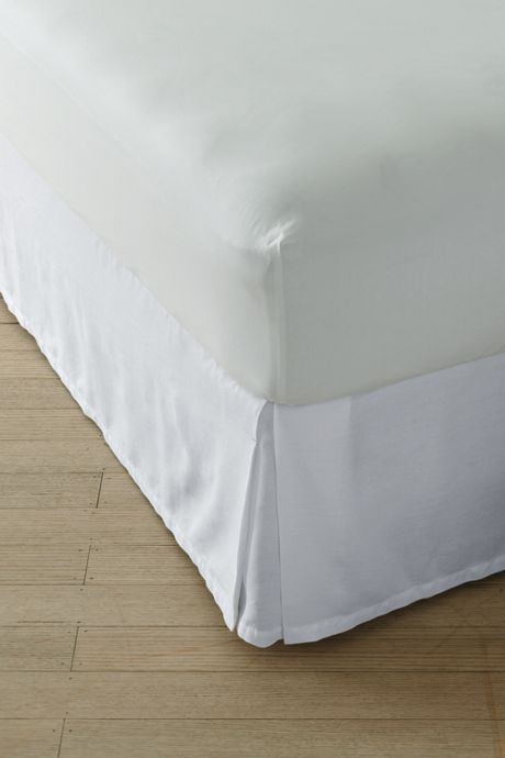 Garment Washed Linen Bedskirt