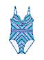 Women's Sweetheart Neck Chevron Stripe Perfect Swimsuit