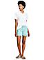 Le Short en Jean Coloré Ourlets à Revers, Femme Stature Standard