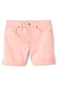 Women's Mid Rise Roll Cuff Jean Shorts