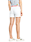 Women's Roll Hem White Denim Shorts