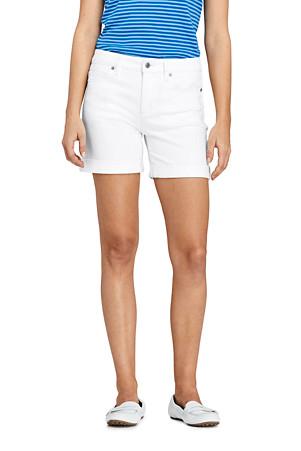 zur Freigabe auswählen echte Schuhe beste Schuhe Twill-Shorts in Weiß für Damen | Lands' End