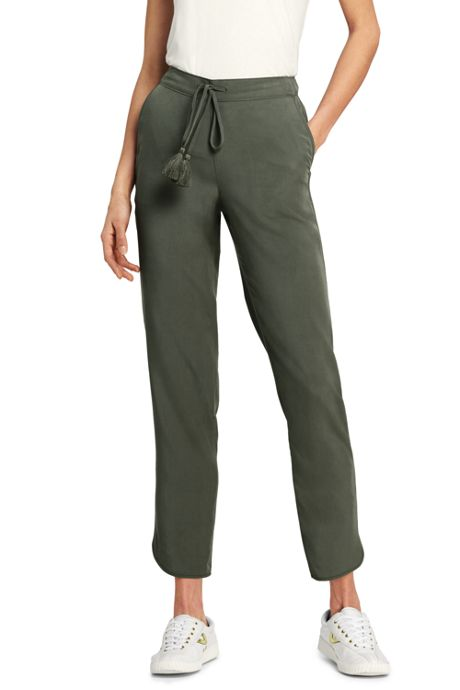 Women's Tencel Crop Jogger Pants
