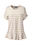 Le T-Shirt Léger Rayé à Volants, Femme Grande Taille