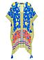 Le Poncho Fluide Imprimé, Femme Stature Standard