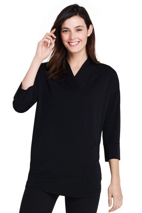 Women's 3/4 Sleeve Matte Jersey Dolman Tunic