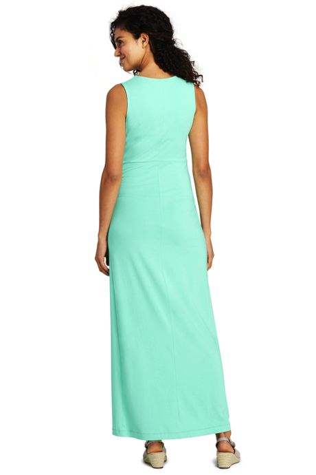 Women's Sleeveless Knot Waist Maxi Dress