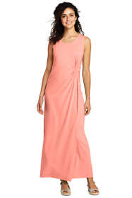 Women's Petite Sleeveless Knot Waist Maxi Dress