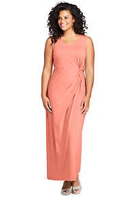 f6692946166 Women s Plus Size Sleeveless Knot Waist Maxi Dress