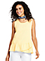 Women's Plus Vest Top with Ruffle Hem