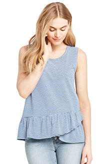 Women's Vest Top with Ruffle Hem