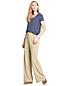 Le Pantalon Large en Lin et Viscose, Femme Stature Standard