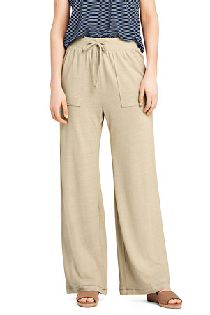 huge inventory excellent quality many fashionable Women's Linen Blend Wide Leg Trousers | Lands' End