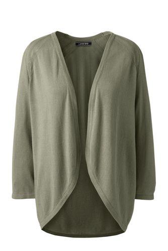 Le Cardigan Léger en Viscose et coton, Femme Stature Standard
