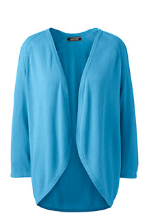 Women's Lightweight Summer Cardigan with Lacy Pointelle