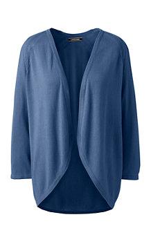 Le Cardigan Léger en Bambou et coton, Femme Stature Standard