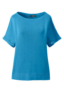 Women's Boat Neck Pointelle Top
