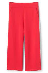 Women's Plus Size Mid Rise Ponte Wide Leg Crop Pants
