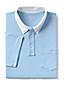 Men's Woven Collar Stretch Piqué Polo Shirt