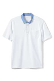 Men's Tall Stretch Pique Woven Collar Polo