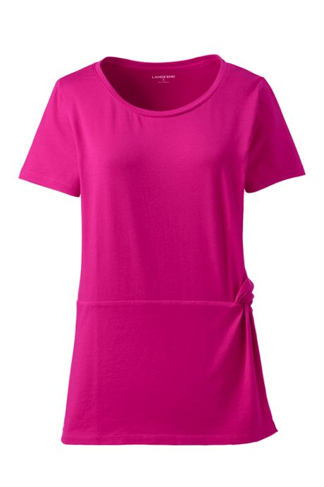Women's Plus Size Side Knot T-Shirt