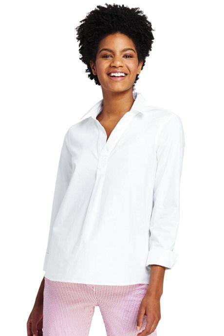 Women's Petite Popover Oxford Shirt