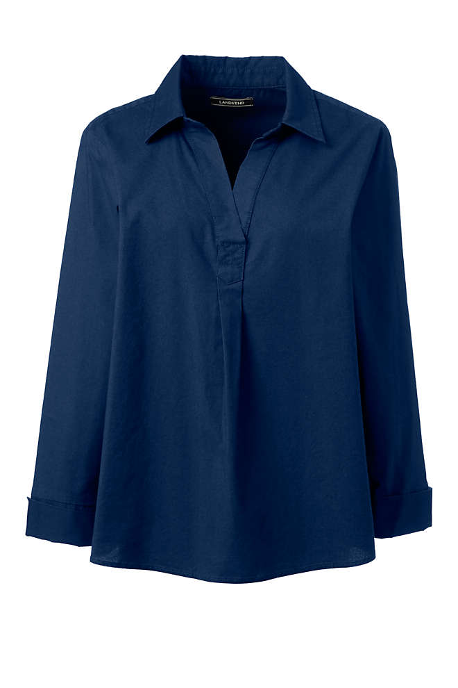 Women's Popover Oxford Shirt, Front