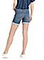 Le Short en Jean Indigo Ourlets à Revers, Femme Stature Standard