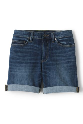 Jeans-Shorts in Indigo für Damen