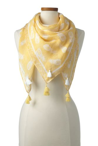 Women's Square Pineapple Scarf