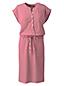 Women's Henley Striped Jersey Dress