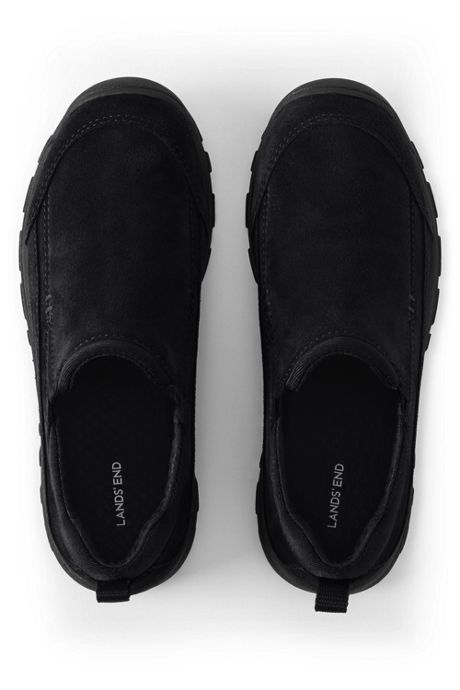 Kids Wide All Weather Suede Moc Shoes