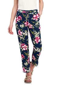 Women's Petite Tencel Hoffman Floral Crop Jogger Pants