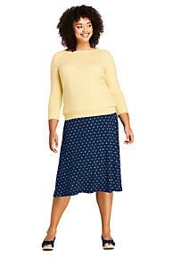 0903568c3f5e8 Women s Plus Size Floral Knit Midi Skirt