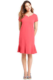 Women's Petite Women's Short Sleeve Ruffle Hem Tee Shirt Dress