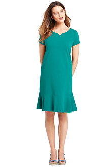 Women's Short Sleeve Jersey Summer Dress