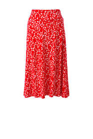 Women's Plus Size Floral Knit Midi Skirt