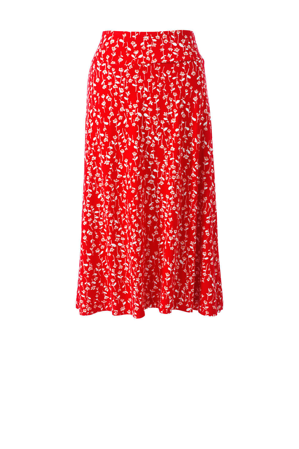 c21b313548 Women's Floral Knit Midi Skirt from Lands' End