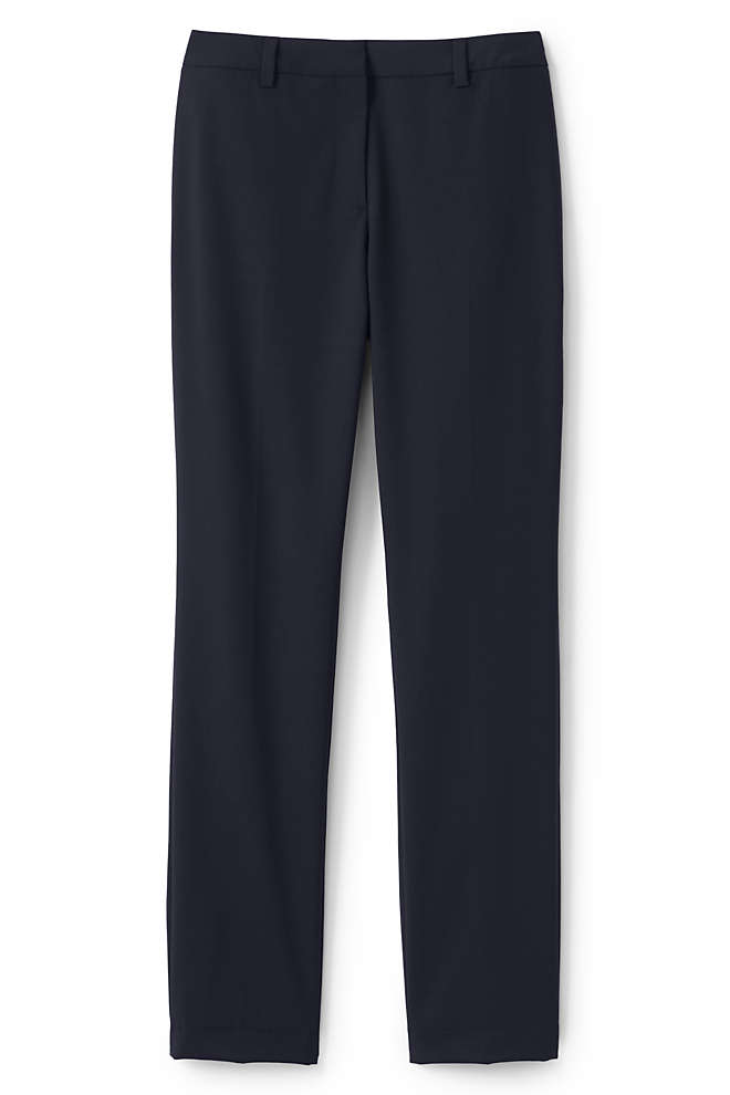 Women's Plus Size Washable Wool Slim Pants, Front