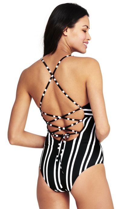 Women's Lace-up One Piece Swimsuit