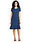 Women's Patterned Short Sleeve Jersey Summer Dress