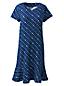 La Robe Housse Ourlet Volanté à Motifs en Jersey Stretch, Femme Stature Standard