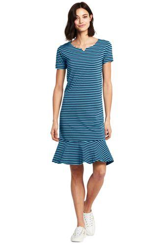 Womens Petite Short Sleeve Jersey Summer Dress - 10 -12 Lands End Nm9v8f8